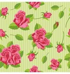 seamless roses vector image