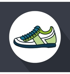 shoes runner isolated icon vector image