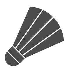 Shuttlecock solid icon badminton vector