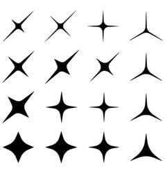 sparkles black symbols vector image