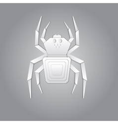 Spider paper design vector image