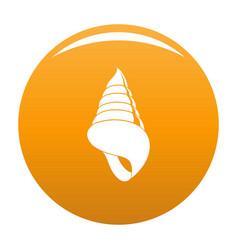 Spiral shell icon orange vector