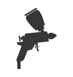 Spray paint gun vector