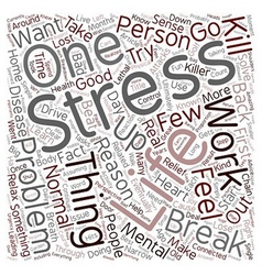 Stress relief advice text background wordcloud vector