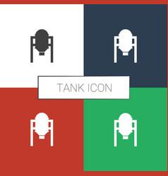 Tank icon white background vector