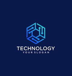 Technology logo design template vector