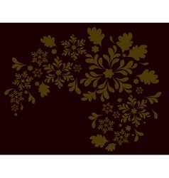 The pattern of the Golden flowers Eps10 vector image
