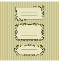 Three ornate frame for your content vector image vector image