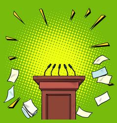 Tribune chair podium vector