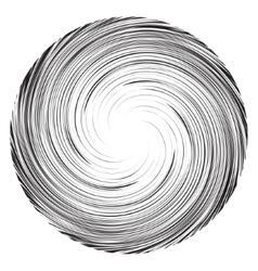 Vortex speed lines background Collapsar on white vector image