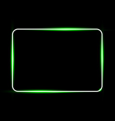 White neon shiny glowing vintage frame vector