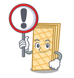 with sign waffle character cartoon style vector image