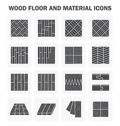 Wood floor icon vector