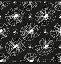 cobweb seamless pattern background spider web vector image