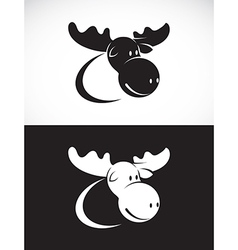Image of moose design vector