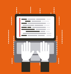 programmer working interface web programming vector image vector image