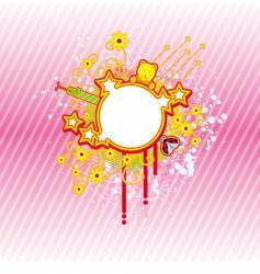 spring circle frame vector image vector image