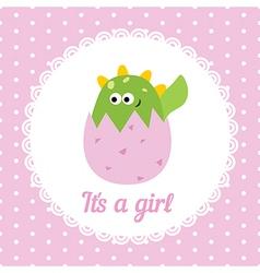 Baby girl card vector