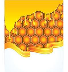 bright honey background - vector image