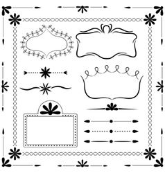 Decor elements vector image vector image