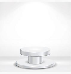 Realistic podium round 3d empty white vector