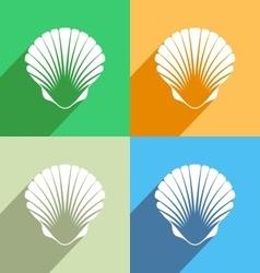 Scallop seashell icon vector image vector image