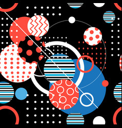 seamless geometric graphic pattern vector image