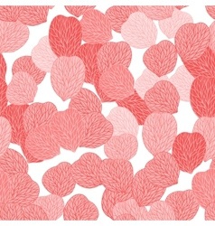 Seamless pattern of pink flower petals vector image vector image