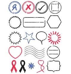 stamp set vector image vector image