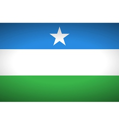 Flag of puntland vector