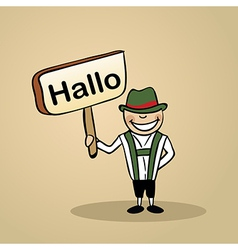 Hello from germany people vector image