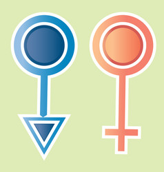 Male female icon design vector