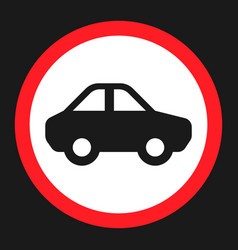 no motor and car sign flat icon vector image