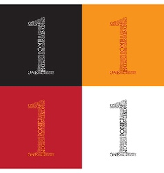 Number one pattern vector image vector image