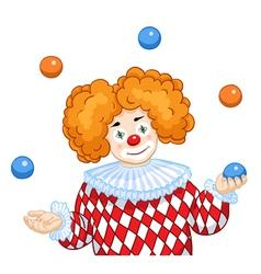 A Juggling Clown vector image vector image
