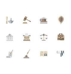 Advocacy flat color icons set vector