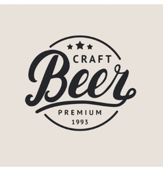 Beer logo lettering for logotype label badge and vector image vector image