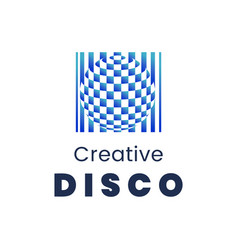 creative disco logo template modern element for vector image vector image