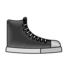 cute scribble boot cartoon vector image