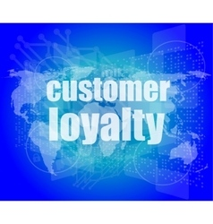 Marketing concept words Customer loyalty on vector image vector image