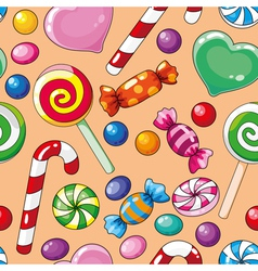 seamless pattern candies vector image