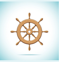 Wooden ship wheel vector image vector image