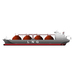 A huge ship tanker with liquefied natural gas lng vector