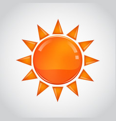 Abstract orange sun on white background vector
