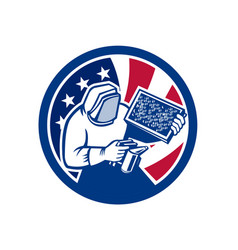 american beekeeper usa flag icon vector image