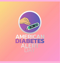American diabetes alert day icon design vector