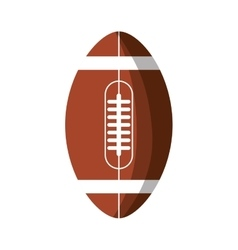 American football balloon isolated icon vector