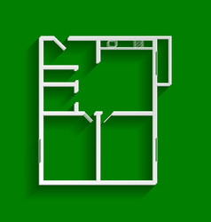 apartment house floor plans paper whitish vector image