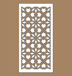 Arabic cnc panel laser cutting template vector