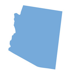 arizona state map vector image